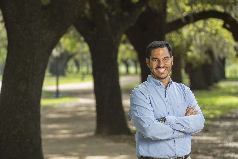 TOKC board member Omar posing in park
